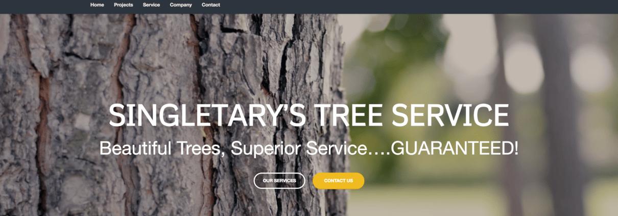 Singletary Tree Service New Website